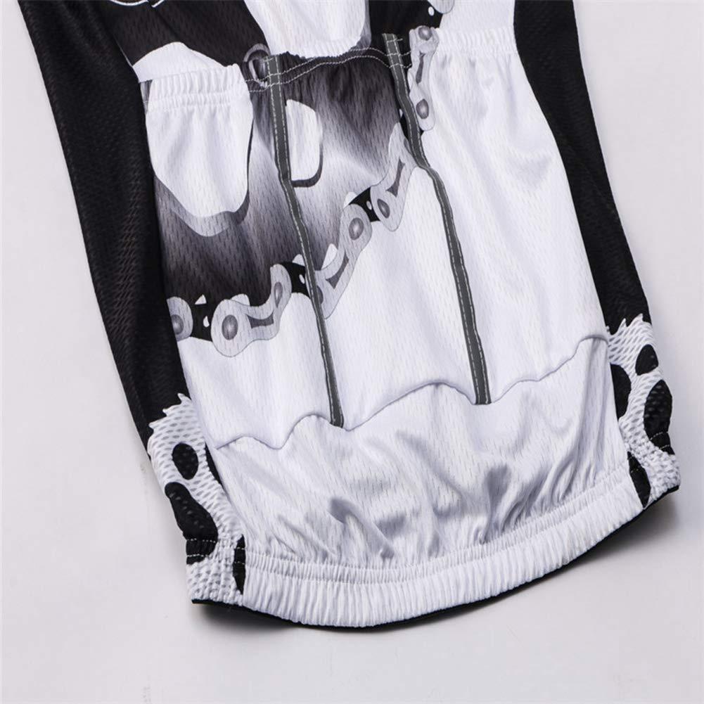 Anti-Sudore Traspirante con Cerniera Lampo Manica Corta Abbigliamento da Ciclismo Abbigliamento da Bici Maglietta da Gara Qianliuk Maglia da Ciclismo Quick Dry con Tasche