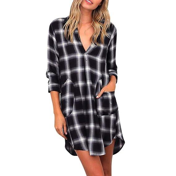 Hpapadks Women Plaid Long Sleeve Casual Loose Tunic Tops T Shirt Blouse Womens Cowl Neck Sweatshirts Raglan Shirts at Amazon Womens Clothing store: