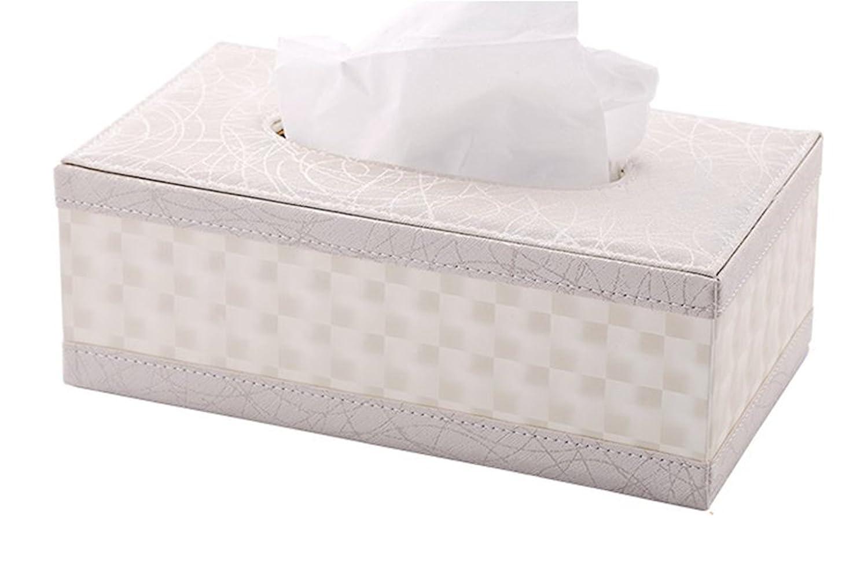 European-Style Flower Pattern S Forever PU Leather Kleenex Box Holders Rectangular White Tissue Box Cover
