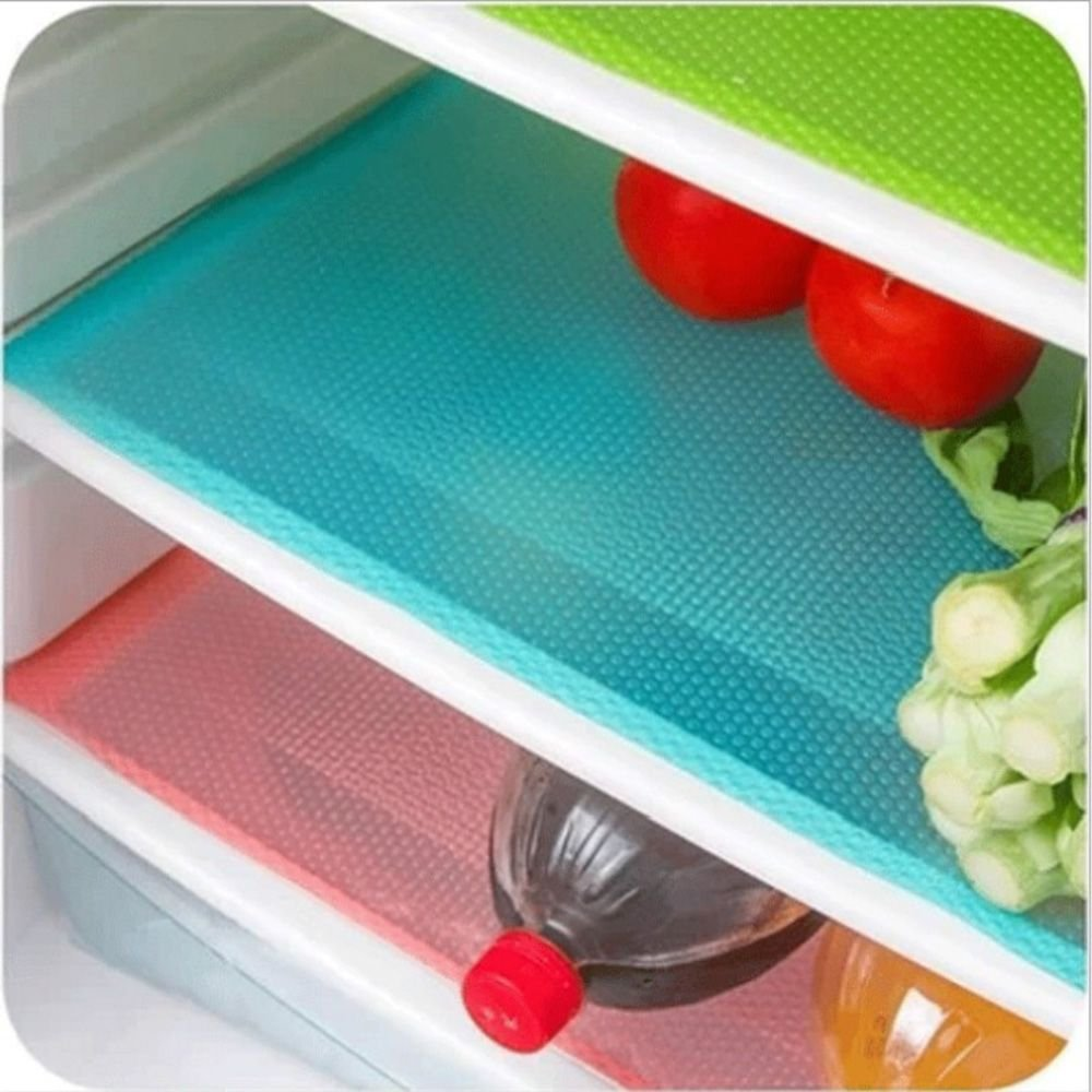 IETONE 6 Pack Refrigerator Mats, EVA Refrigerator Liners Washable Can Be Cut Refrigerator Pads Fridge Mats Drawer Table Placemats/Size 17.7 x 11.8