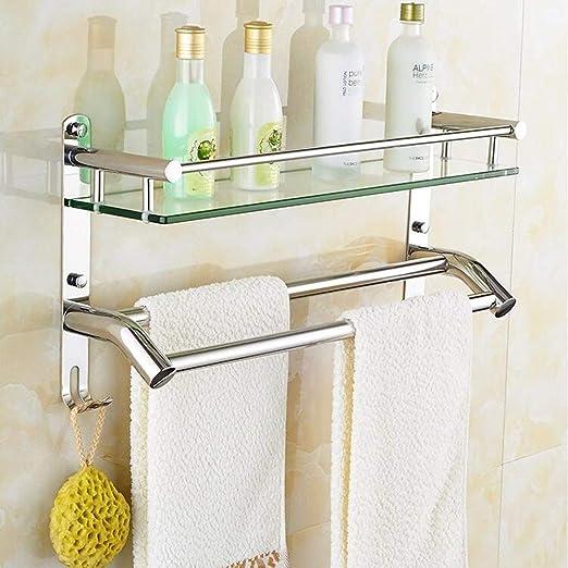 Yuany Estante de Vidrio para baño, Estante Frontal de Espejo de Vidrio Templado de 8 mm,