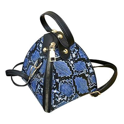 FEISI22 Crossbody Bag for Women, Leather Shoulder Bag Large Capacity, Unique Tote Bag,Vintage Crossbody Shoulder Bags Blue: Clothing