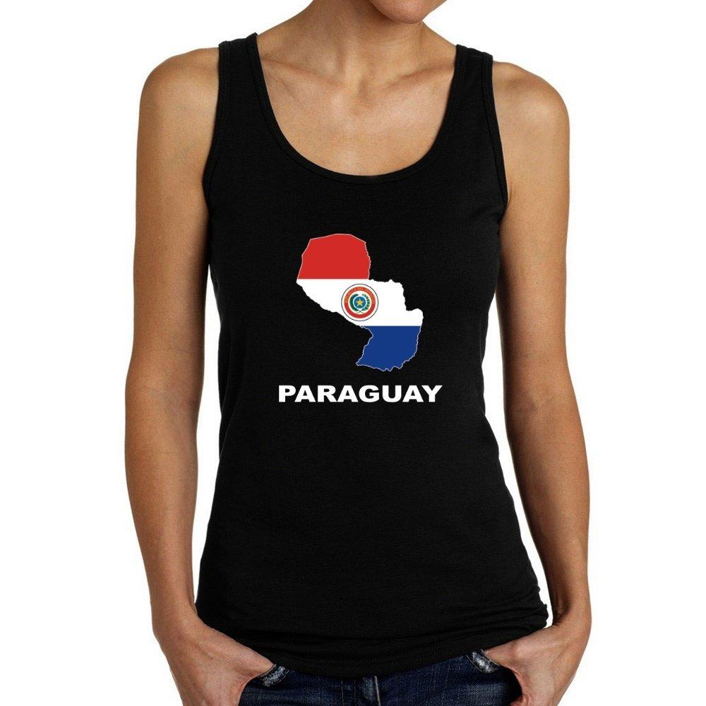 Teeburon Paraguay Country Map Color Camiseta de Tirantes ...