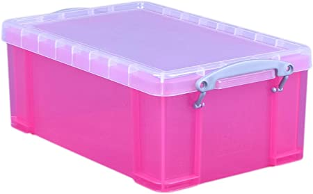 Caja de almacenaje 9 l Really Useful. Color: rosa brillante.: Amazon.es: Hogar