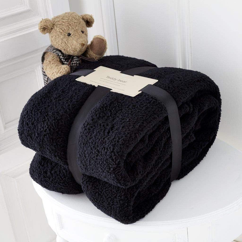 RED//KING SIZE 200X240CM hachette THROW OVER BED LARGE BEDSPREAD SOFT CUDDLY WARM SOFA BLANKET TEDDY FLEECE BLANKET