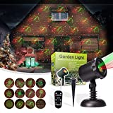 MicTuning 12 Patterns Led Christmas Light Projector Star Light Show Moving Star Spotlight with RF Remote for Holiday, Parties, Xmas, Landscape, Garden Decoration Light