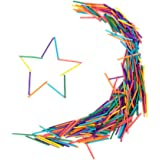 Lot de 300 Pcs Allumettes Colorées DIY pour Enfants
