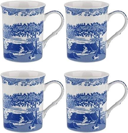 Porcellana 8.5/x 12/x 10.5/cm Blue Italian/ Blu e Bianco /Set di 4/Tazze