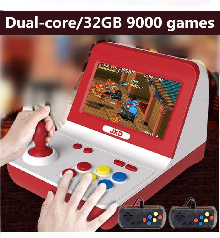 New Classic Nostalgia Big Rocker Retro Mini Arcade Console Dual-core 32GB Build in 9000 Games Arcade neogeo/cp1/cp2/gbc/gb/sens/nes/smd mp3 mp4 (Black)