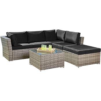 Amazon Com Suncrown Outdoor Furniture Sectional Sofa 4