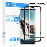 Galaxy S9 Screen Protector Glass, FOVAL 3D Curved Dot Matrix Full Screen Coverage Case Friendly Galaxy S9 Tempered Glass Screen Protector with Easy Installation Tray (NOT S9 Plus)