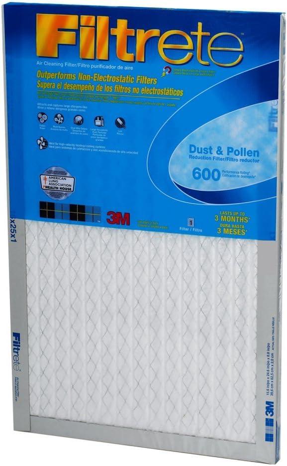 Filtro de filtro de aire para reducción de polvo, 20 x 25 x 1, MERV 7, por 3 m: Amazon.es: Bricolaje y herramientas