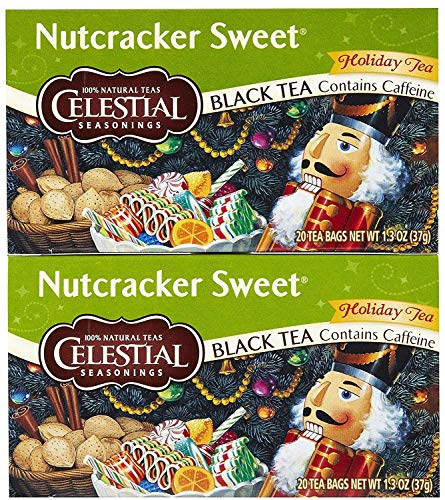 Nutcracker Tea Sweet Black - Celestial Seasonings Nutcracker Sweet Black Holiday Tea Bags, 20 ct, 2 pk