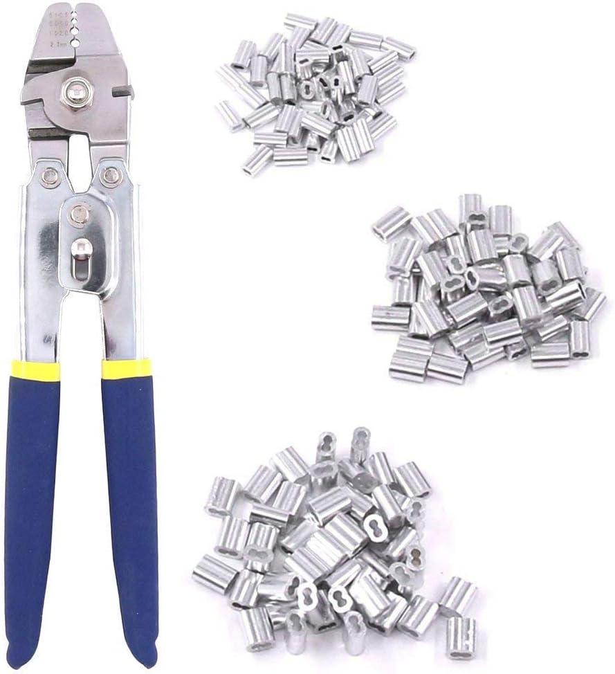 Casinlog Alicates de pesca de acero inoxidable con 150 piezas para crimpadoras y crimpadoras