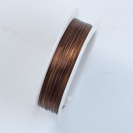 Amazon brown color wire 26 gauge thickness 04mm wbw 101 26g brown color wire 26 gaugethickness 04mm wbw 101 26g greentooth Image collections