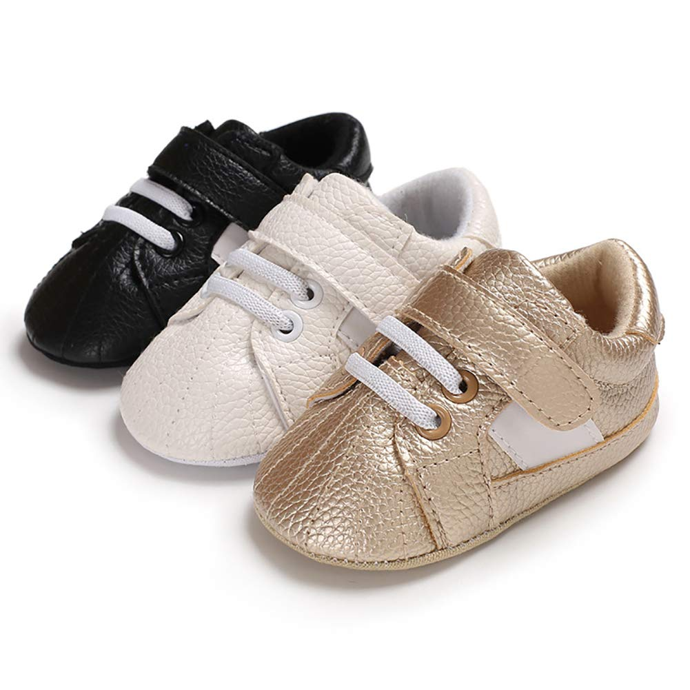 White 12cm Alamana Fashion Baby Infant Faux Leather Soft Warm Anti-Slip Prewalker Toddler Shoes