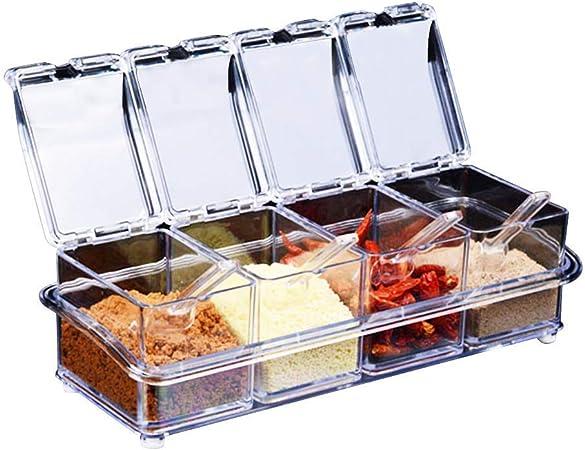 de ventilador transparente Seasoning rack de especias. – Tarros 4 ...