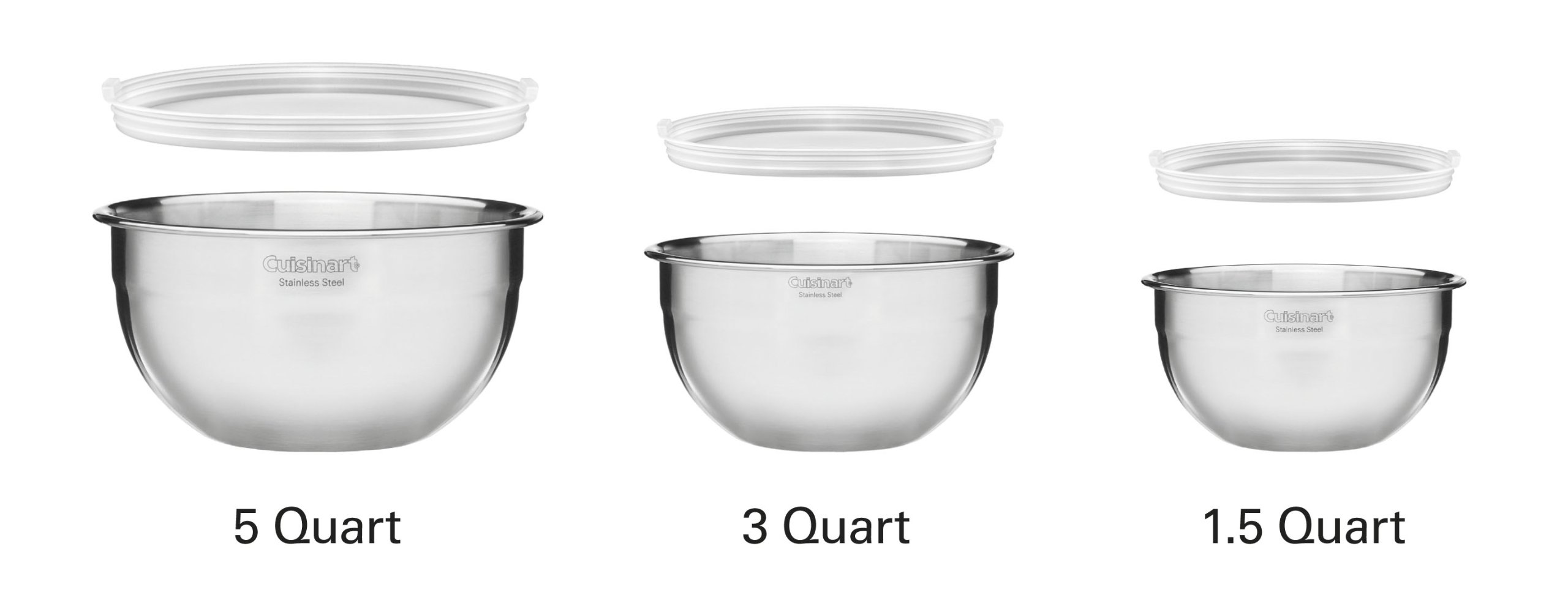 Cuisinart CTG-00-SMB Stainless Steel Mixing Bowls with Lids, Set of 3 by Cuisinart (Image #4)