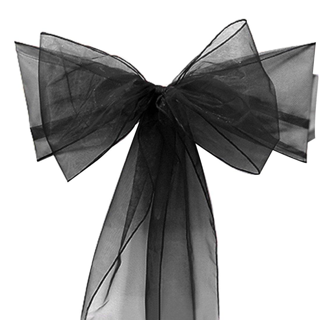 suave y elegante beige Lazos de organza para decoraci/ón de banquetes de boda 17,78 x 274,32 cm 50 unidades Calcifer