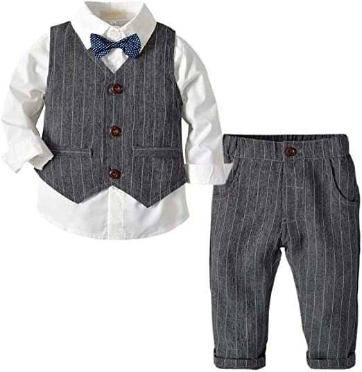 BABY BOYS OUTFIT SET SOFT DENIM JEANS TROUSERS LONG SLEEVE TOP BOY CLOTHING NEW