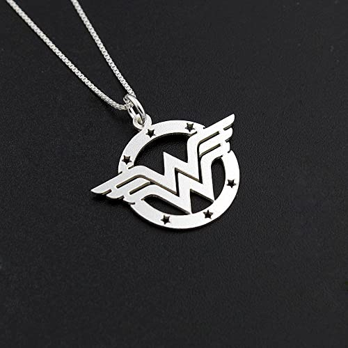 Amazon Delicate Wonder Woman Handmade Necklace Sterling Silver
