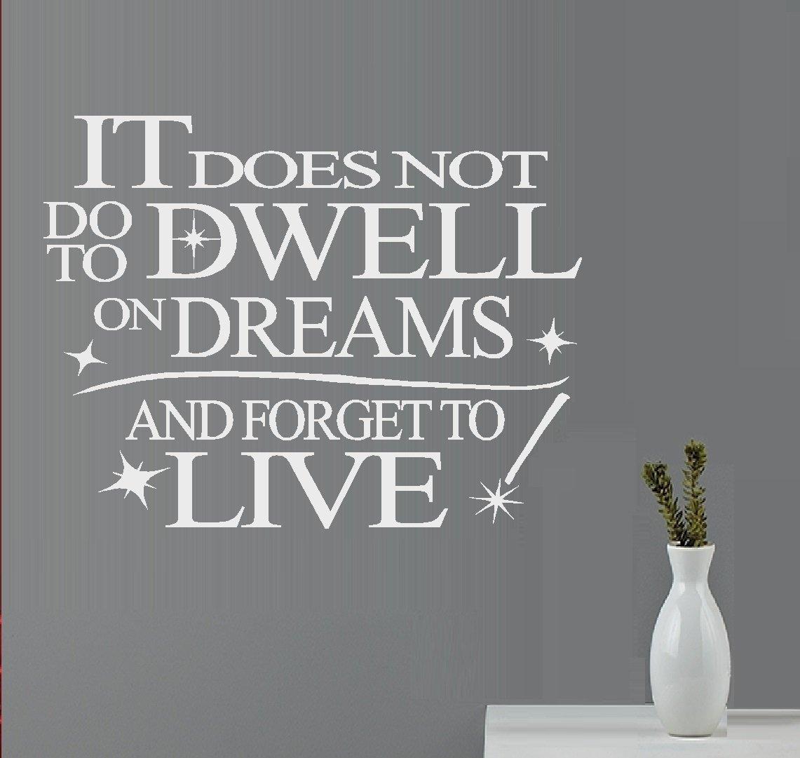 Do ItにないDwell On夢(インスピレーション引用)壁またはウィンドウデカール 13
