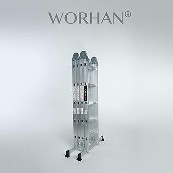 Great worhan m chelle aluminium modle grosse charnire polyvalente escabeau chafaudage multiusage - Escabeau de cuisine pliable ...