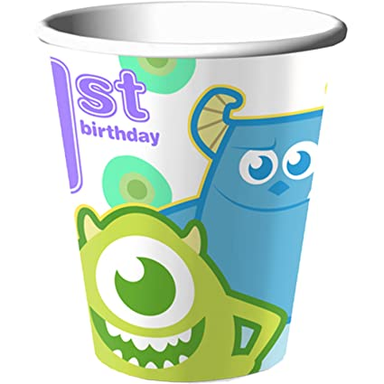 Amazon.com: Disney Monsters, Inc. Primer Cumpleaños 9oz ...