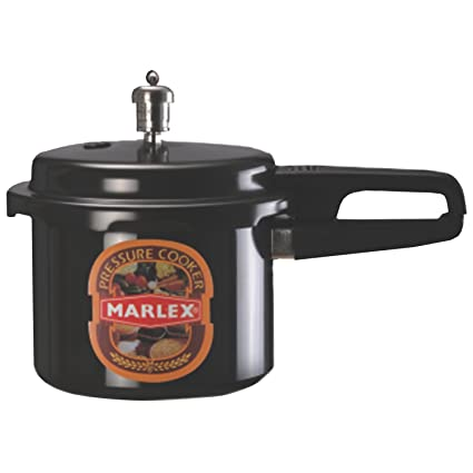 Marlex Hard Anodized Aluminum Outer Lid Gas compatible Pressure Cooker Standard Size/5 Ltr(Silver)