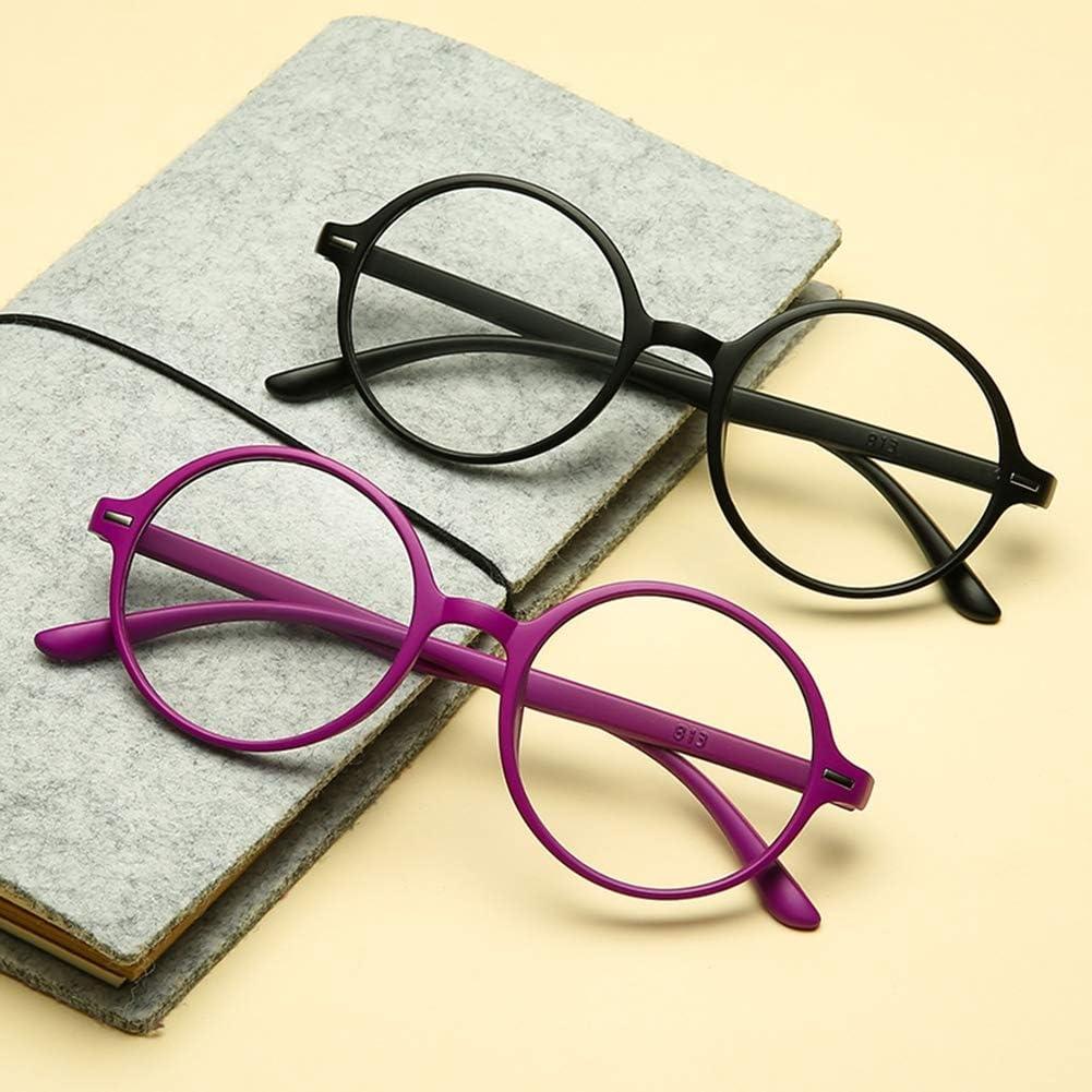 1.0 /à 3.5,Violet,+1.5 D/&XQX Lunettes de Lecture Rondes TR90 Portable Lunettes Mode Hommes Femmes Lunettes de Lecture l/ég/ères