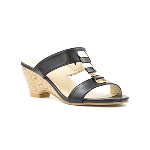 Da donna beige sandali da Lilley con piccolezeppa e tacco misura 6