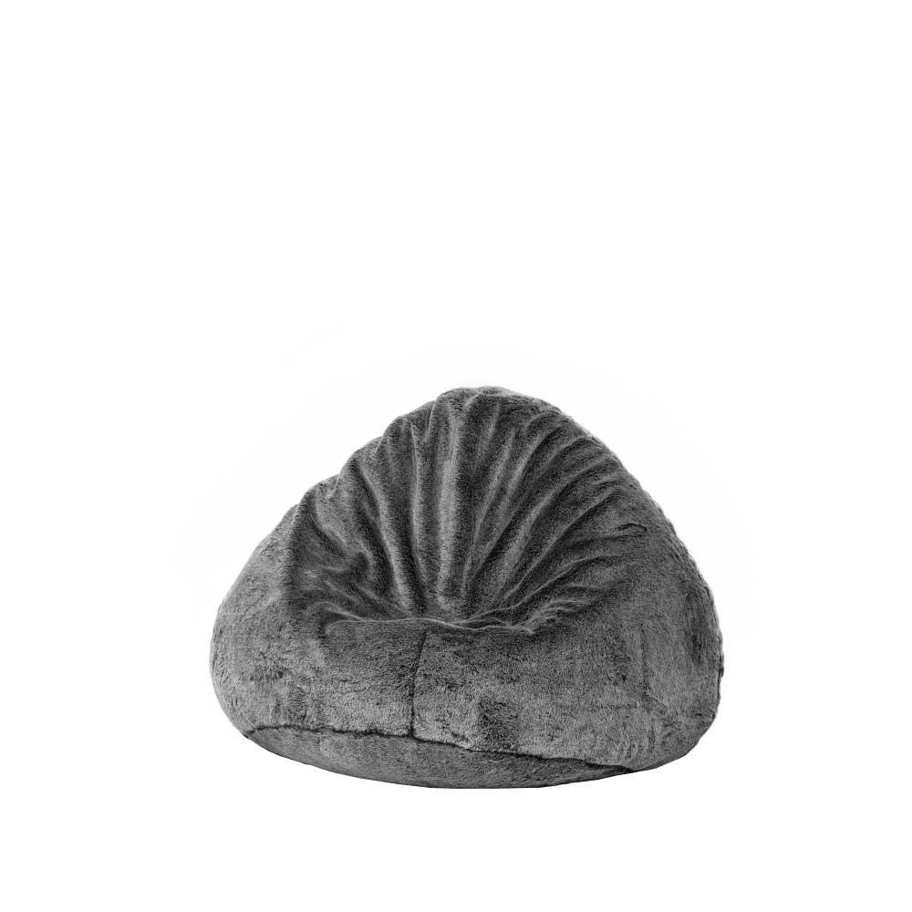 Sitzsack in Grau Fell Optik Pharao24