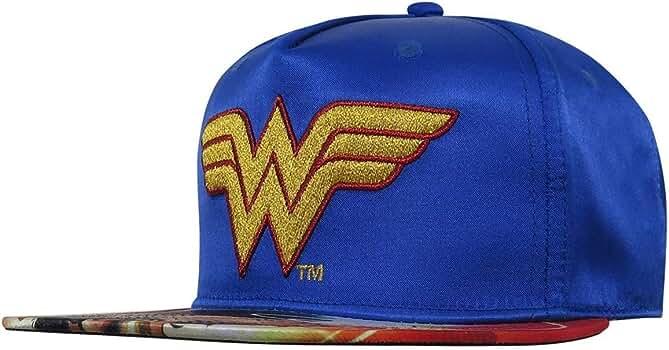 Wonder Woman Suit Up Applique Snapback Baseball Hat Red