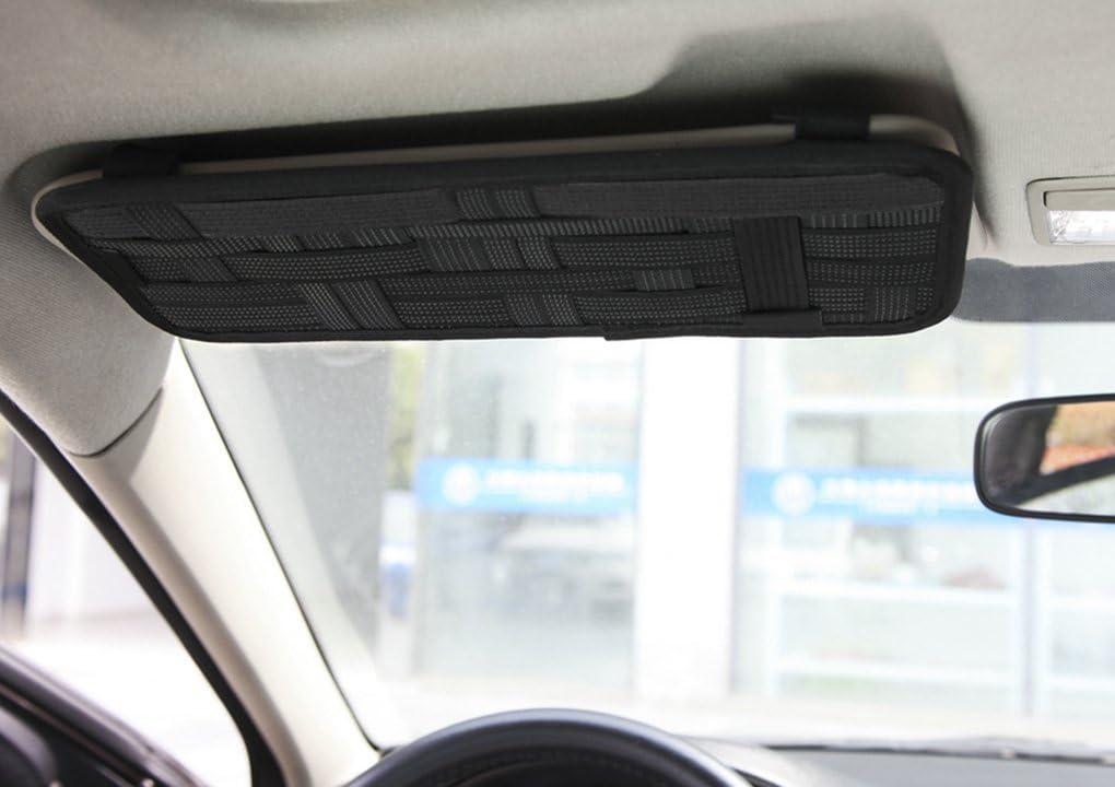 Auto parasole tasche auto Organizer multiuso antiscivolo elastico Nylon Auto Borsa di stoccaggio Custodia per CD per cellulari Occhiali da sole cuffie