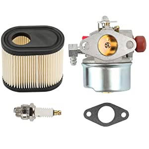 Anzac Carburetor Carb for Tecumseh 640173 640174 640262 640262A 640124 640156 640168 LEV110 LEV115 LEV120 with air Filter Spark Plug