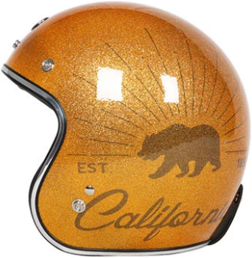 レトロな機関車のヘルメット、男性オートバイの人格涼しい夏の女性の安全半分のヘルメット、プリンスヘルメットハーフカバー軍の緑XXL (色 : イエロー いえろ゜) イエロー いえろ゜