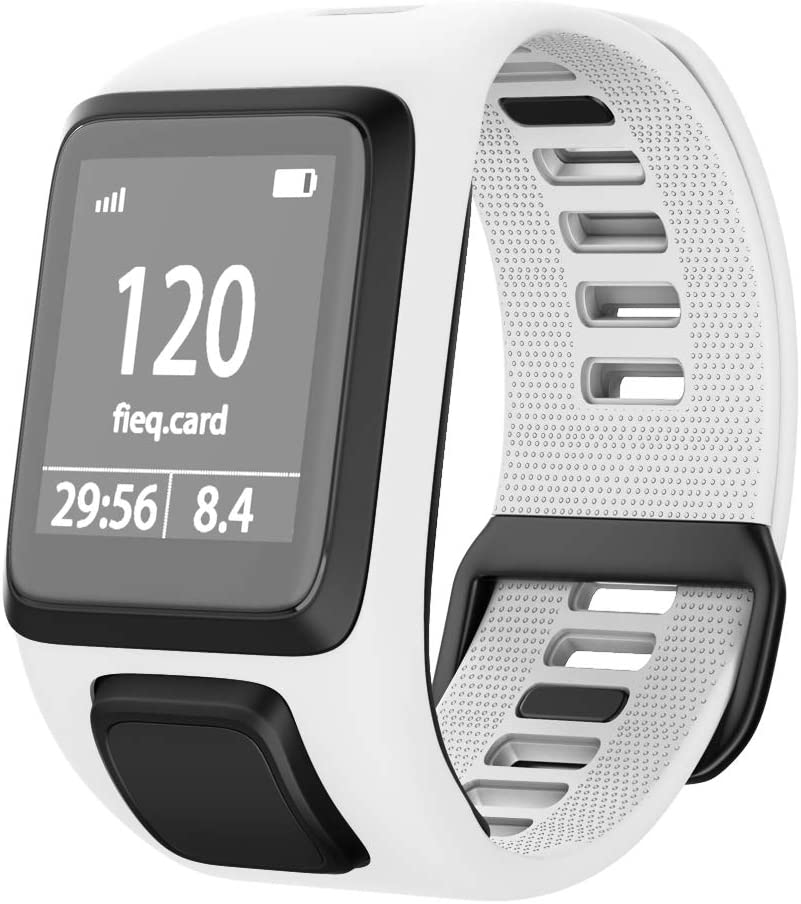 ANCOOL Compatible with Spark 3 Watch Bands Silicone Watch Straps Replacement for Runner 2 3,Spark 3, Golfer 2,Adventurer Smartwatches (White)