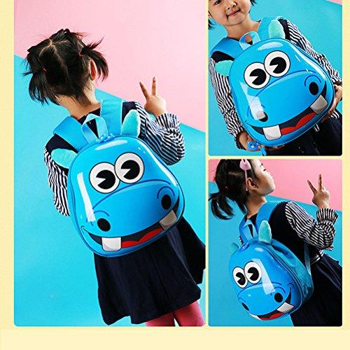 Tinksky Kinder Rucksack niedliche Tier Kindergarten Tasche für Jungen Mädchen (hellblau)