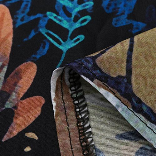 abito stampato a vestiti da Vestiti vintage da corto donna H Sysnant Abito estivi lunghi maniche corte boho donna estate Mini w8Sx4Iq