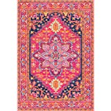 nuLOOM Persian Medallion Pink Rug (5  x 7 5)