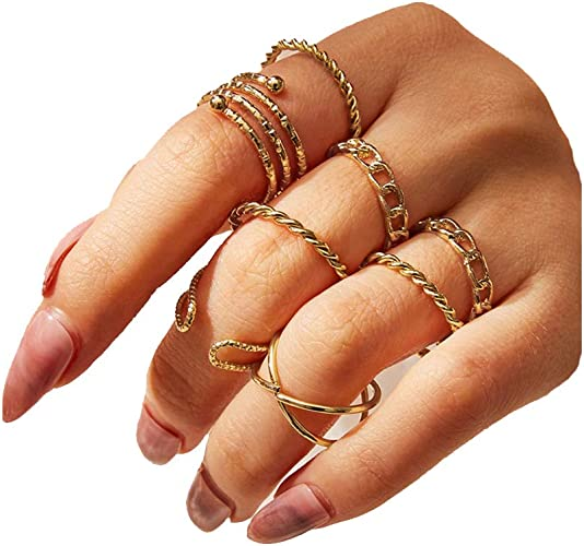 Stacking Above 6 Pcs//Set Vintage Women Gift Gold Jewelry Knuckle Rings Finger