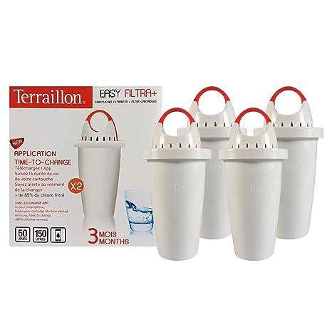 terraillon filtri  Kit x 4 filtri - EasyFiltra + TERRAILLON. 6 mesi di filtraggio ...