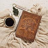storeindya Tree of Life Genuine Leather Journal Handmade Paper Travel Sketch Diary Christmas