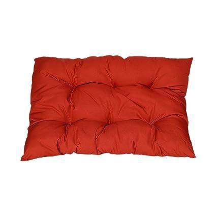 Amazon.com: Rojo suave funda para asiento cojín Pad de ...