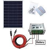ecoworthy 100Watt 12V Solar Panel Kit + 15A Laderegler für 12Volt Off Grid Akku System
