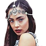 Missgrace Metal Chain Jewelry Headband Head Hair Band Tassels Bridal Gold Silver Headpiece for Women and Bridesmaid