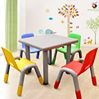 1.11 Kids Toddler Table and Chair Set with Adjustable Height - Mixed Colour