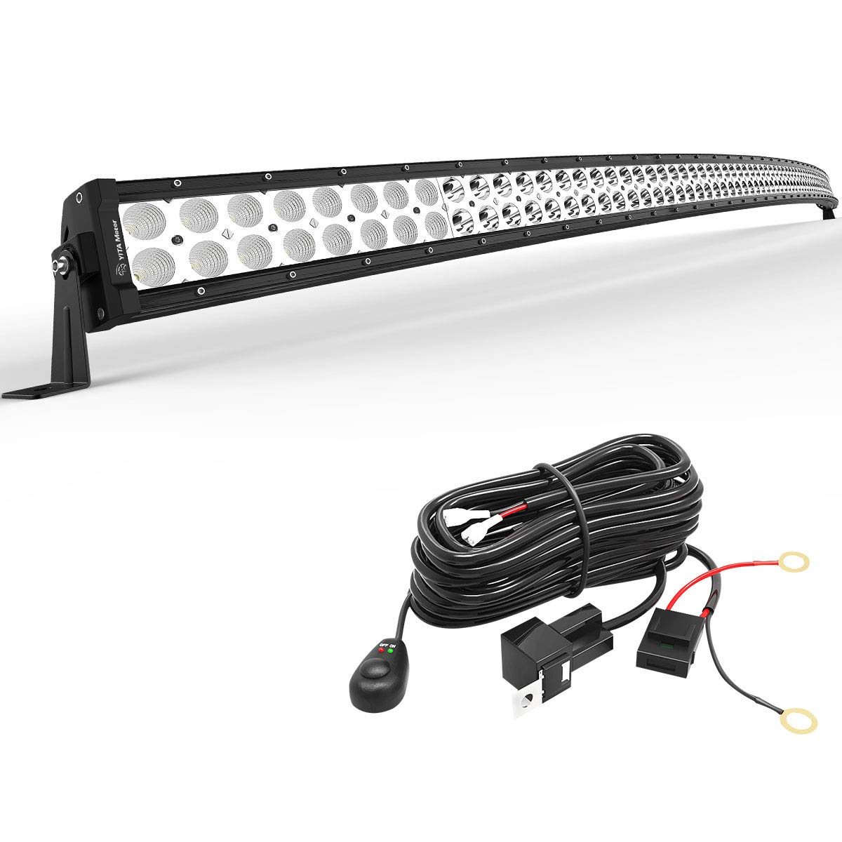 Curved 52Inch 300W Led Work Light Bar Spot Flood Combo For Off road SUV White 54 Car & Truck Parts Car & Truck Light Bars
