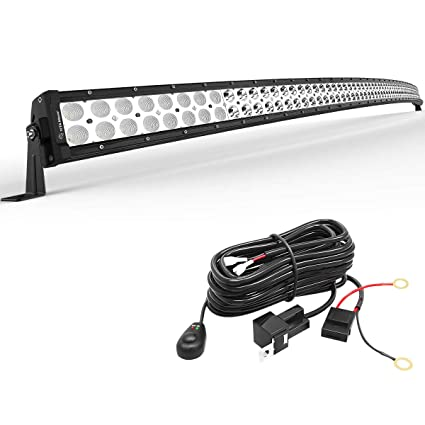 How To Wire Led Light Bar In Truck: YITAMOTOR 52 inches Curved Led Light Bar Off Road Driving Lights with Mounting Brackets and Wiring Harness Compatible for Jeep Pickup Truck SUV rh:amazon.com,Design