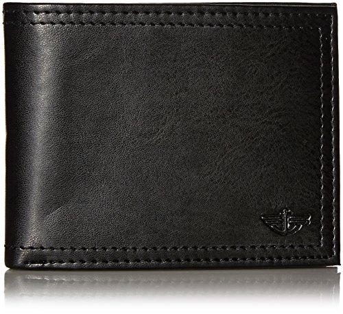 Dockers Men's Extra Capacity Slimfold Wallet,Black (Mens Black Bi Fold Wallet)